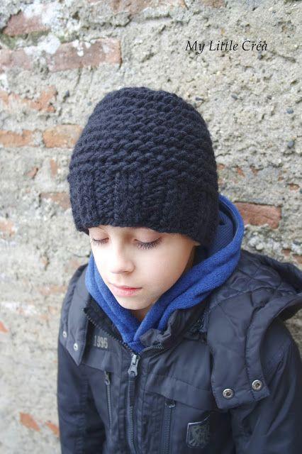 """J'ai tricoté un bonnet pour mon petit monstre, le modèle nommé """"Bonnet minutes"""" de la blogueuse Julypouce . J'adore son blog il est très bi..."""