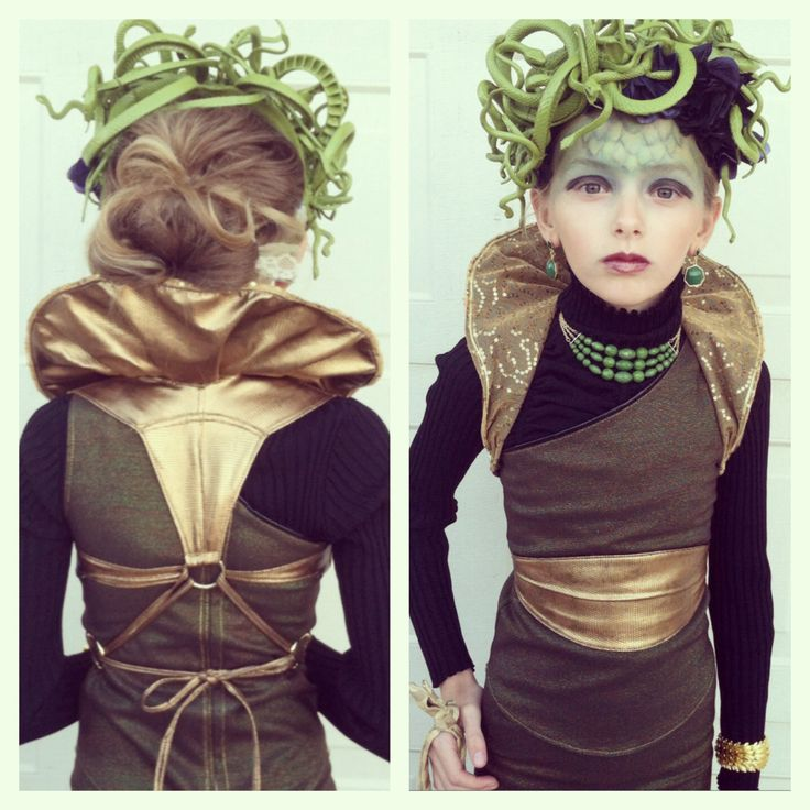 Homemade Medusa Halloween Costume #greek #mythology #halloweencostume…