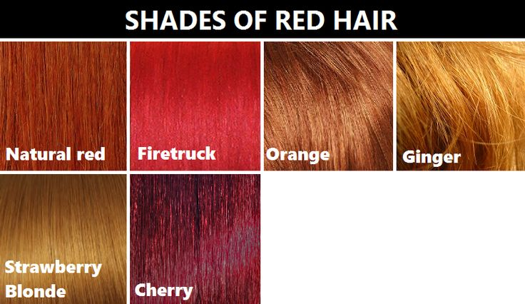 shades of red hair research pinterest shades of red