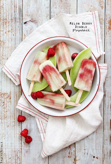 Melon Berry Popsicles