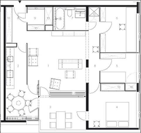 Hansaviertel Housing Alvar Aalto Modern Nine Square The Living Room At The