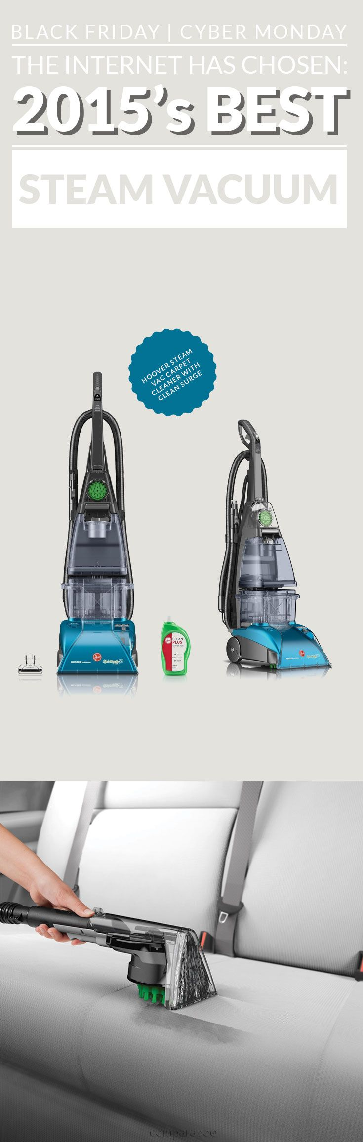 New: Mop and vacuum at the same time. Congratulations @hoover on the #1 steam vacuum www.comparaboo.com | @comparaboo