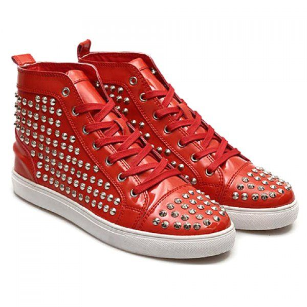 Fashion Rivets and High Top Design Men's Casual Shoes