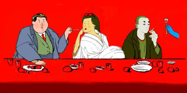 The Red Supper by Franco Hüller, via Behance