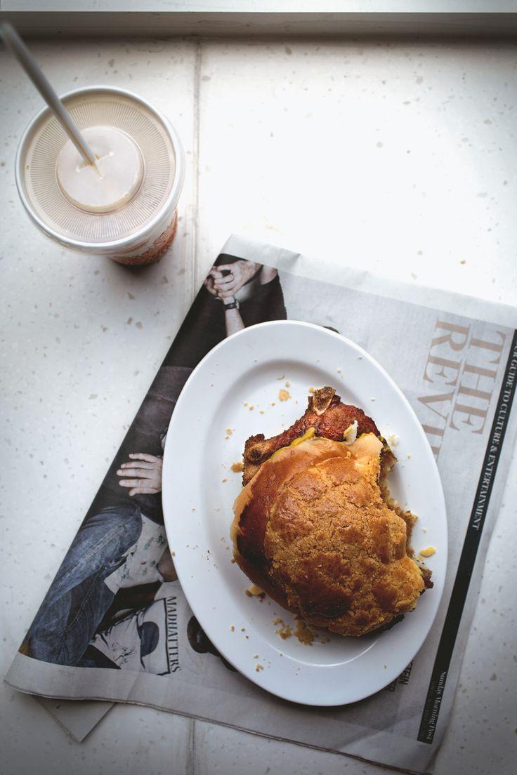 Macao's pork chop pineapple bun
