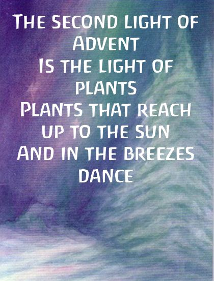 Advent ~ Week Two: The Light of Plants ~ Verse