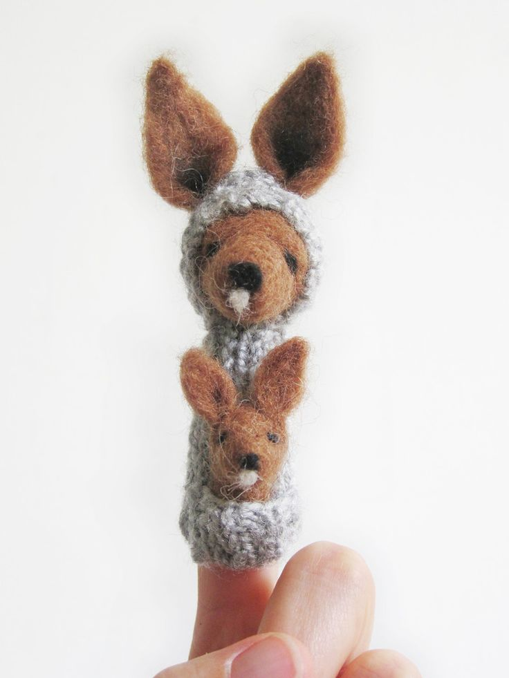 22 best images about handmade finger puppets on pinterest for Kangaroo puppet template