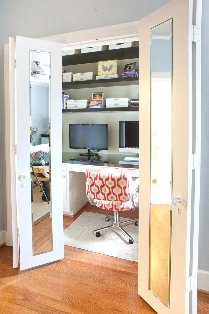 Office Design Home Office In Closet Small Walk In Closet Office