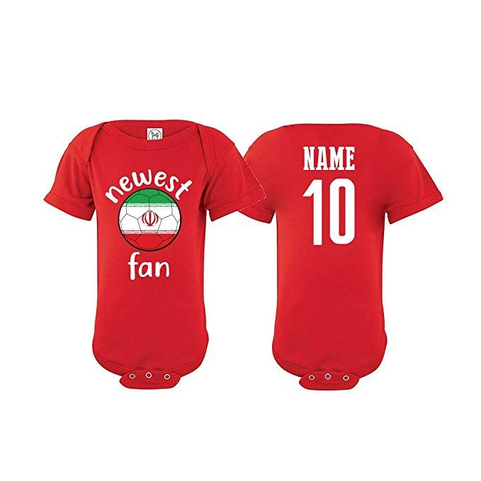 Iran Bodysuit Newest Fan National Team Soccer Baby Girls Boys Customized (T- Shirt 3T) aaf51c79f