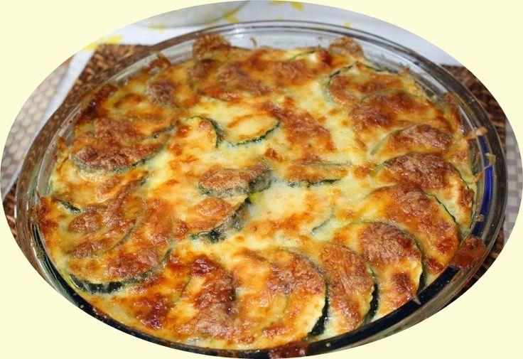 Katica konyhája: Cukkini csöben sütve sok sajttal