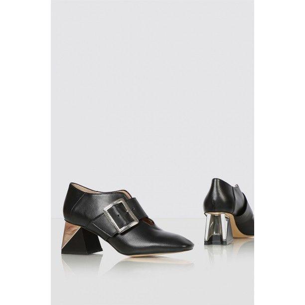Borya Bayan Topuklu Ayakkabi Siyah Deri Siyahderi Kiyafet Ve Aksesuarlar Ayakkabilar Lidyana Ayakkabi Ilvi In 2020 Shoes Mule Shoe Fashion