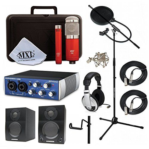 News Music Home Recording Studio Bundle MXL 550/551R HP10 Stand PreSonus AudioBox USB Samson Media ONE BT3 Speakers    buy now     $419.99 MXL 550/551R This all-in-one Recording Ensemble delivers outstanding performance for both vocals and instruments. Ide... http://showbizmusic.com/home-recording-studio-bundle-mxl-550551r-hp10-stand-presonus-audiobox-usb-samson-media-one-bt3-speakers/
