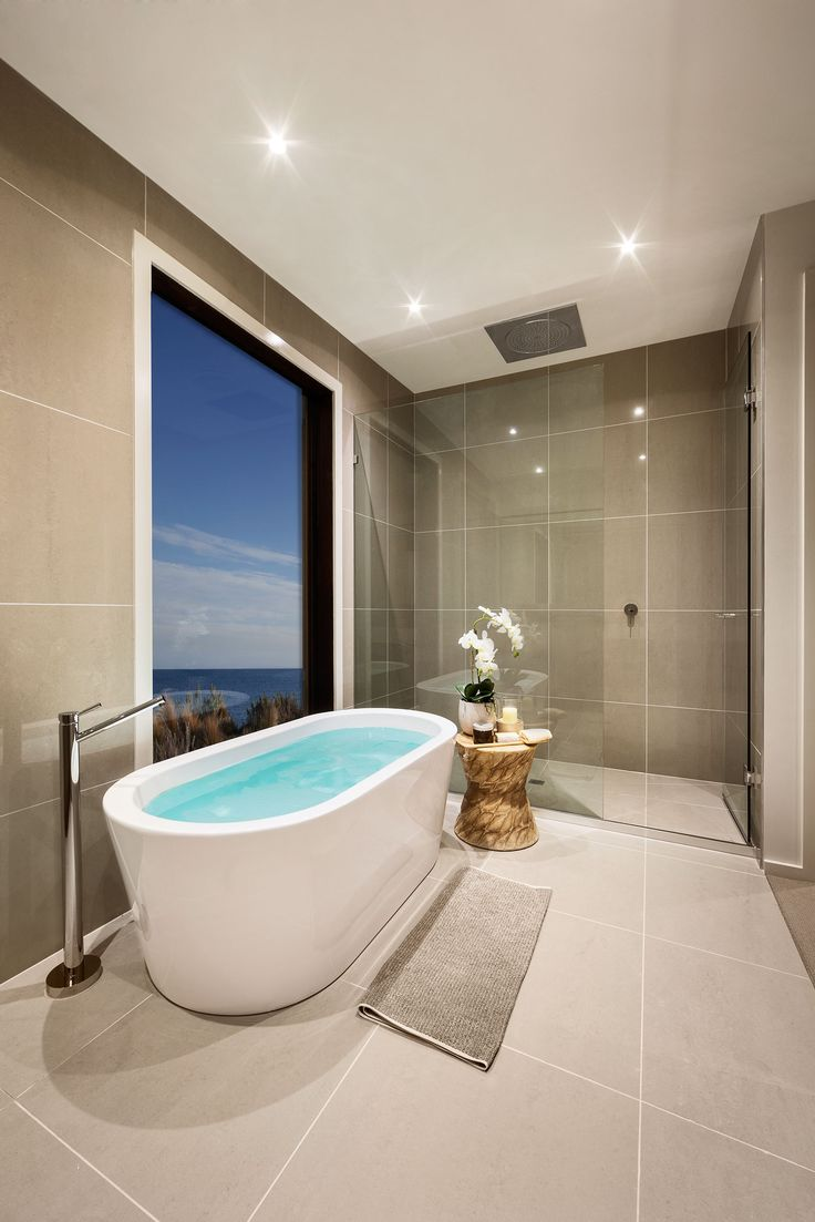 The tranquil Master Ensuite in the Severn 4-45. #urbanedgehomes #melbournebuilder #style #design #interiors #interiordesign #decor #ensuite #bathroom #alifewithstyle