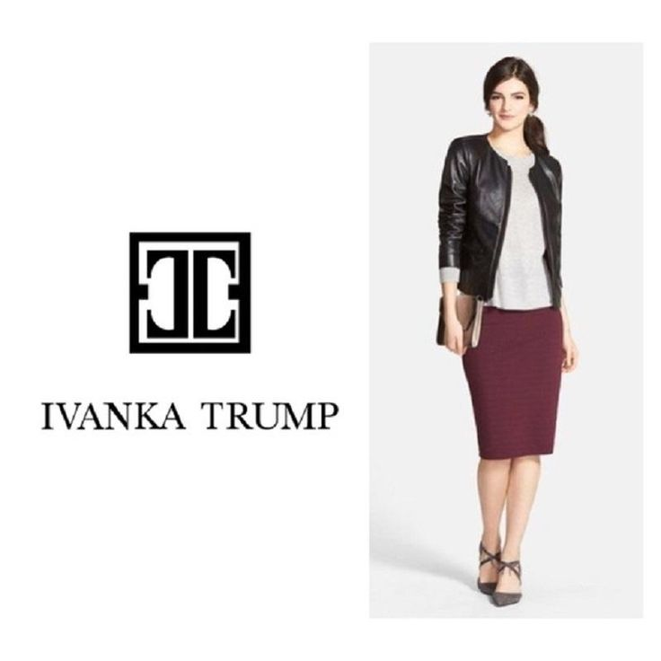 Ivanka Trump Pencil Faux Suede Skirt. Free shipping and guaranteed authenticity on Ivanka Trump Pencil Faux Suede SkirtA gorgeous Deep Eggplant Color; Soft Faux Suede Pe...