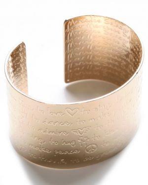 Mercedes Salazar Womens Palabras De Amor Cuff Gold.jpg