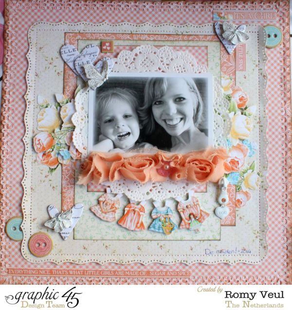 A brilliant Precious Memories layout by the wonderful Romy! Love the layers and hearts and more #graphic45