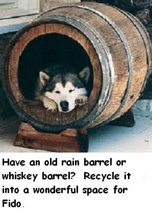 143 best pets images on pinterest pets cutest animals for Barrel dog house designs