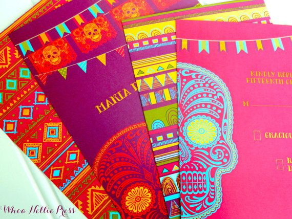 Day Of The Dead Wedding Invitations By Whoanelliepress On Etsy 100 00