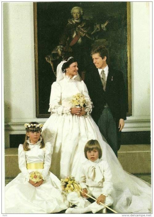 Princess Margaretha of Luxembourg and Prince Nikolaus of Liechtenstein