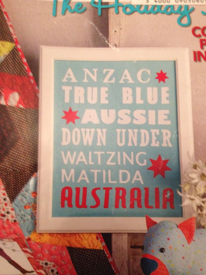 Australia Day DIY wall poster - by Lisa Cox A spoonful of sugar on ETSY
