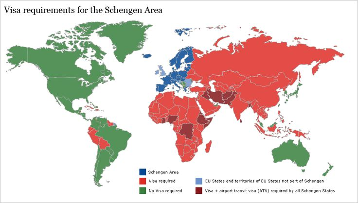 Visa requirements for the Schengen Area