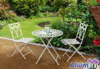 Alium™ Pesaro Foldable Steel 2 Seater Bistro Garden Set
