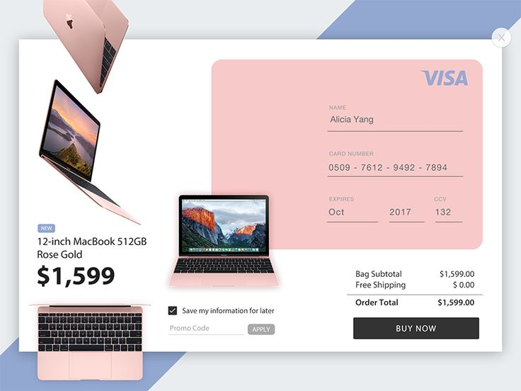 Daily UI #002 — Credit Card Checkout by Alicia