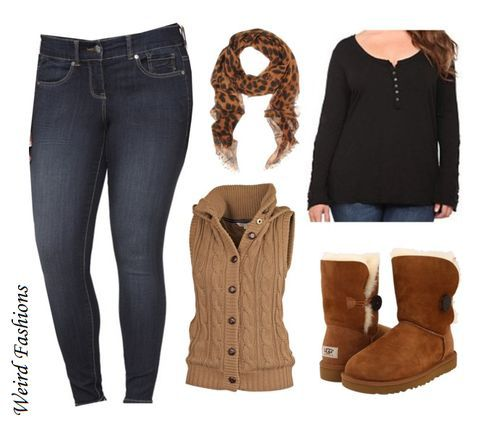 Casual plus size outfits for winter