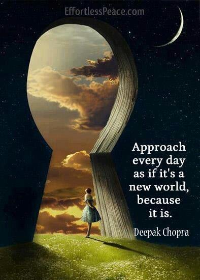 É Deus que nós abençoa com um novo dia, uma nova vida, uma nova oportunidade e uma esperança nova todos os dias!...