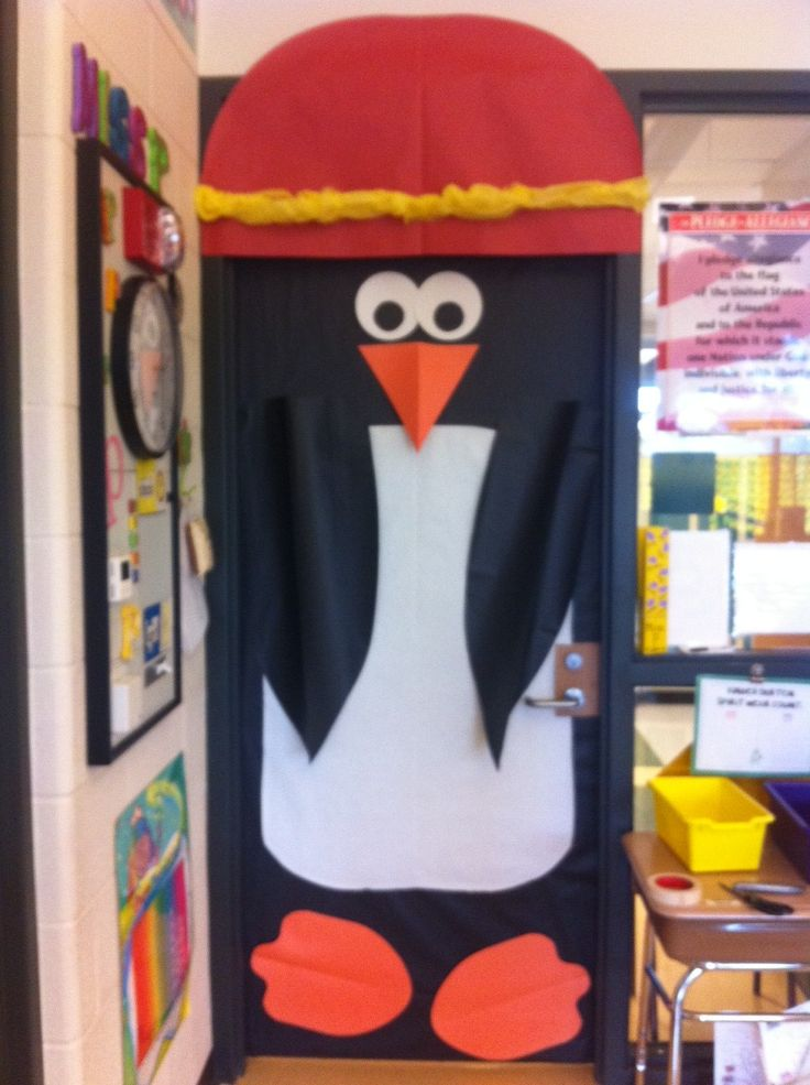 Porta de la classe dels pingüins
