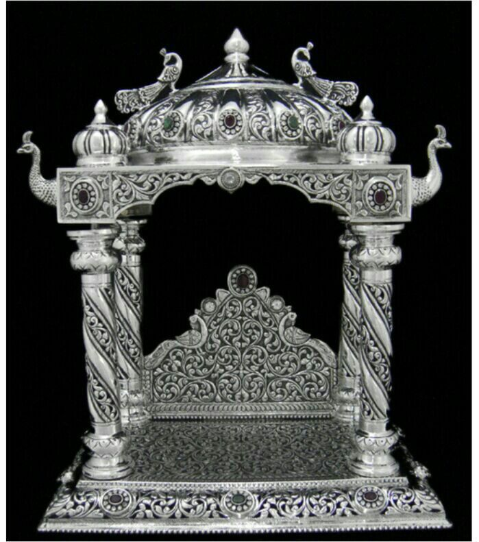 The Richness of a silver in a pooja room is ever inviting.