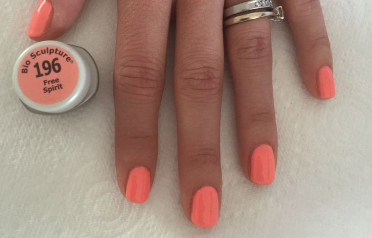 Using Bio Sculpture Gel colour 196 Free Spirit from the Spring/Summer 2015 Happy Hippie collection