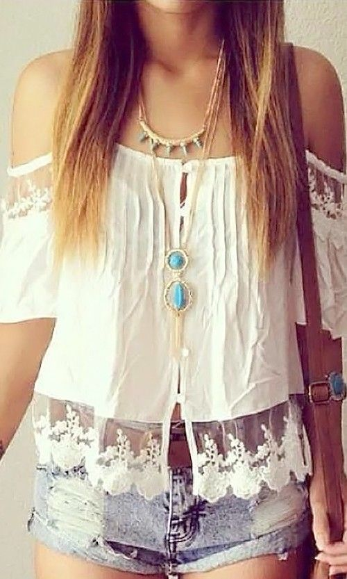 Boho Lace Sleeve Top