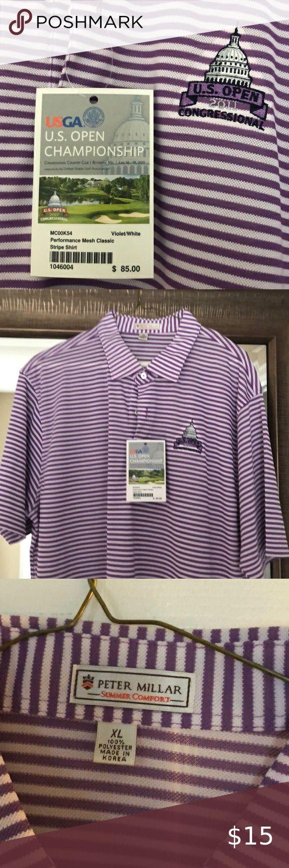 Vintage 2011 US Open Logo Golf Shirt Never Worn Peter