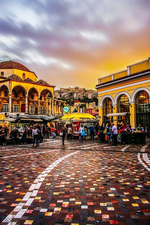 Monastiraki, Athens  #Beautiful #Places #Photography