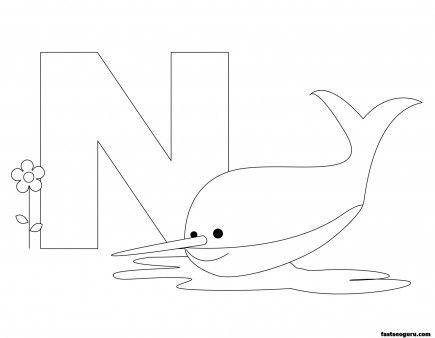 Printable Animal Alphabet worksheets Letter N is for Nurse ...
