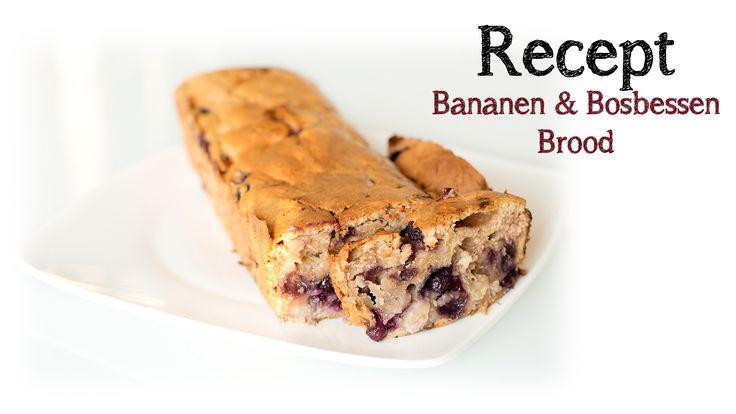 Recept Bananen & Bosbessen Brood #bananabread #banana #blueberry