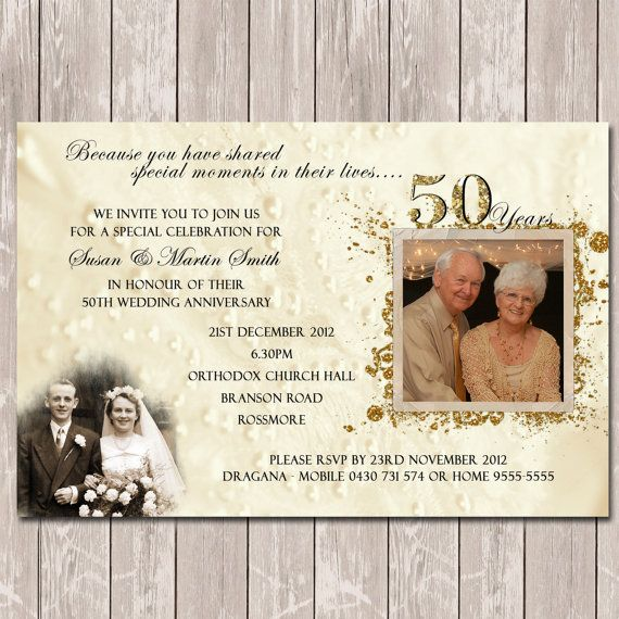 best 10+ 50th anniversary invitations ideas on pinterest | 50th, Party invitations