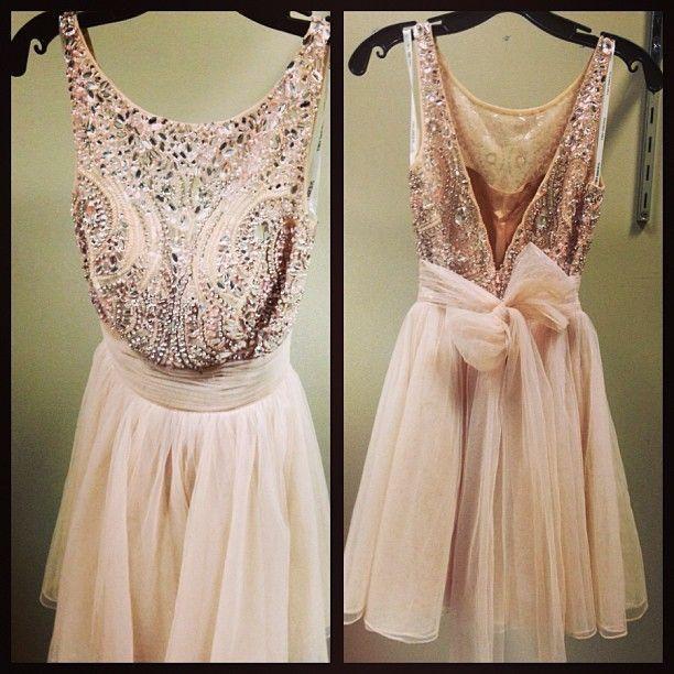 Powder Pink Wedding Dresses: Powder Pink Sequin Party Dress