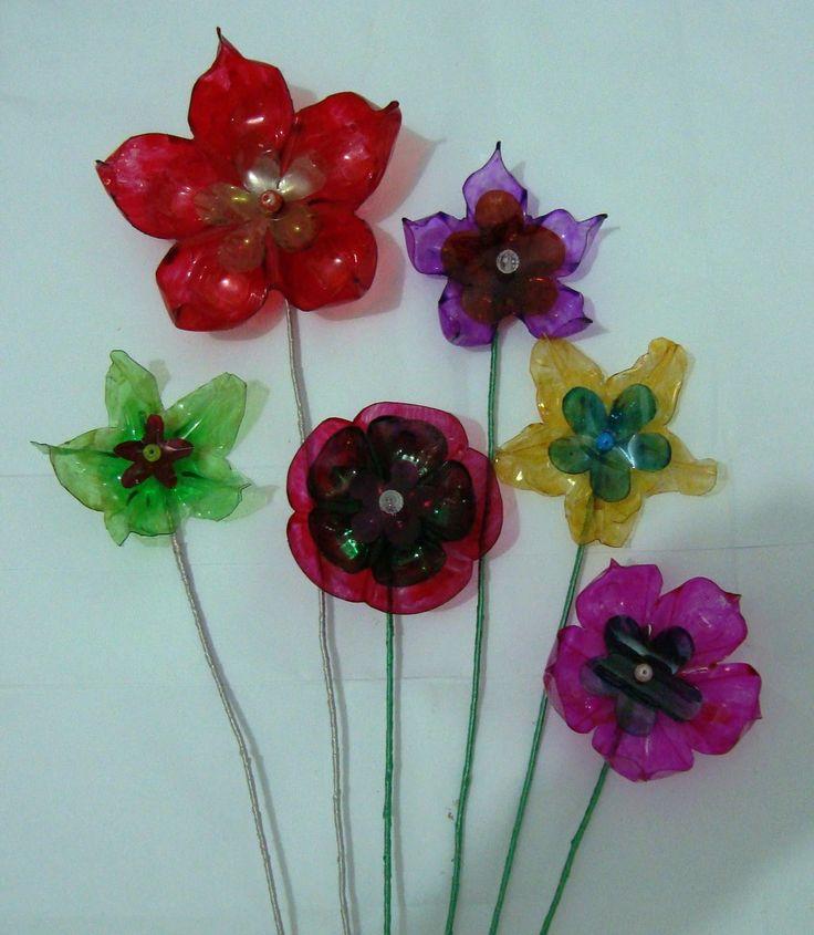 Water Bottle Flowers: 124 Best Images About Bottle Flower On Pinterest