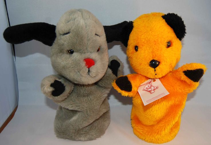 Delightful Vintage Sooty & Sweep Glove Puppets by Patsy B. Excellent condition only £18:00 + p&p from fuzzywuzzybears.com