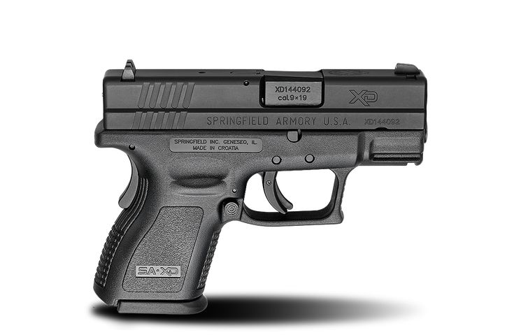 XD® 3″ Sub-Compact 9mm caliber #pistol in Black from Springfield Armory® #firearm #handgun