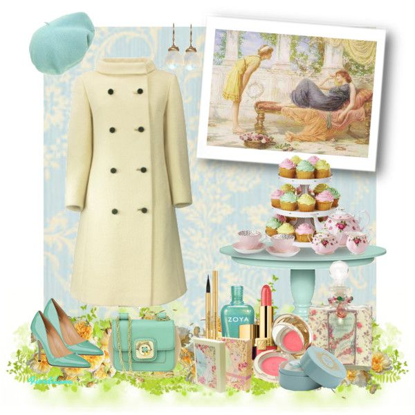 """""""Pastel yellow and aquamarine outfit"""" by fiordiluna on Polyvore"""