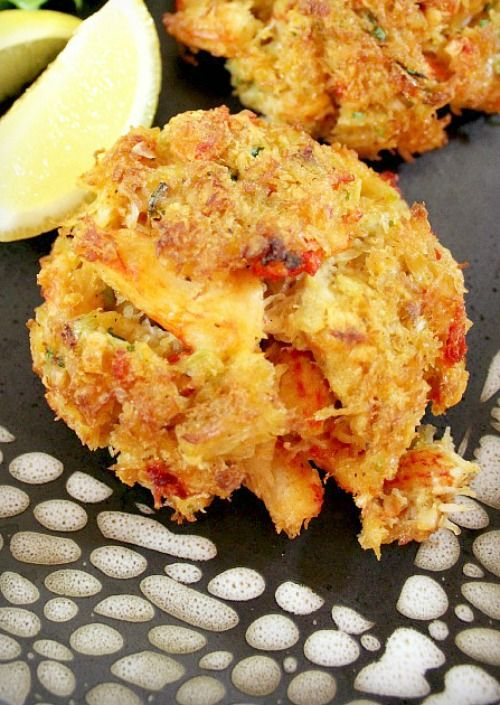 Perfectly Simple Broiled Crab Cakes _ This recipe adds scallions, melted butter, Dijon, some Old Bay seasoning & a bit of hot sauce, all unique while allowing the crab flavor to shine through. And the preparation method will use minimal fat & still attain a crispy bottom.