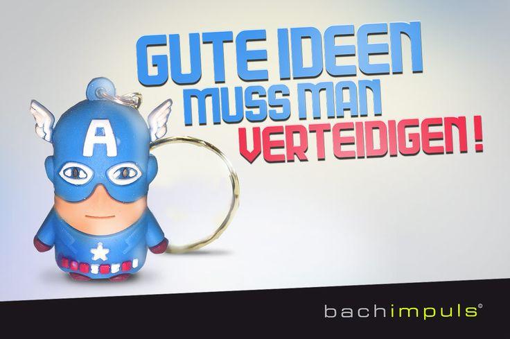 Jeder wäre gerne ein Superheld. Mit den sympathischen kleinen Superhelden- Schlüsselanhänger zeigen wir symbolisch für welche Werte die bachimpuls Werbeagnetur steht.  Die bachimpuls Werbeagentur bietet Werbung, Webdesign, Social Media mit Schwerpunkt Design in Stuttgart, Bietigheim-Bissingen und Heilbronn an. bachimpuls Werbeagentur | Sudetenstraße 81-89 | 74321 Bietigheim-Bissingen | T.  +49 (0) 7142 70 999 40 | www.bachimpuls.com | info@bachimpuls.de