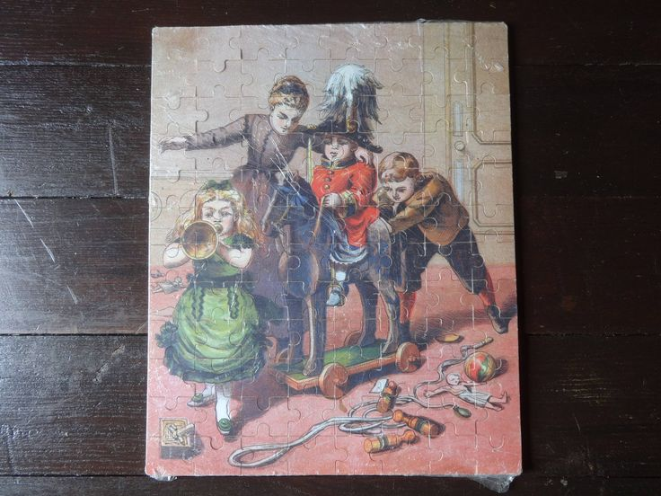 Vintage French Wooden Jigsaw Puzzle Children Nursery Toys Trumpet Hobby Horse Game Of Skill Toy circa 1930-50's Purchase in store here http://www.europeanvintageemporium.com/product/vintage-french-wooden-jigsaw-puzzle-children-nursery-toys-trumpet-hobby-horse-game-of-skill-toy-circa-1930-50s/