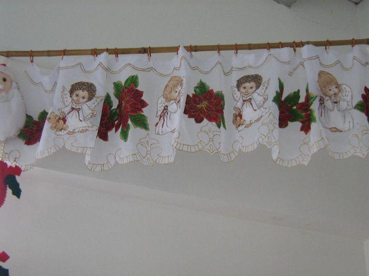 Cenefa navideña, realizada en Velo Suizo.