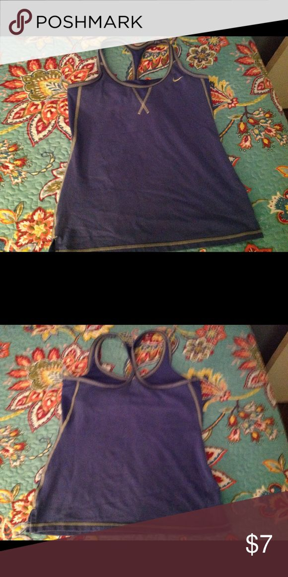 Nike Workout Gear Blue with light green details no stain or rips in mint condition... Nike Intimates & Sleepwear Shapewear