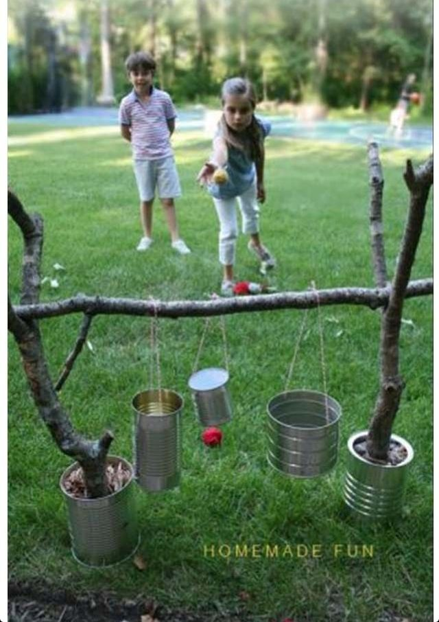 This could be lots if fun for all ages, with things to bang & things to throw balls into.