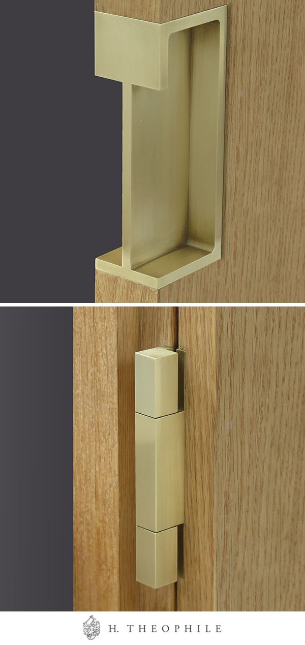 Modern Hardware Solutions Door Hardware By H Theophile The Cuff And Hinge Shown Here Are Custom Engineered In 2020 Modern Hardware Door Hardware Pocket Door Handles